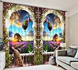 Sproud 3D Photo Beautiful World Peacock Flower Blackout Window Curtains For Living Room Bedding Room Hotel/Office Drapes Cortinas-240Cmx240Cm