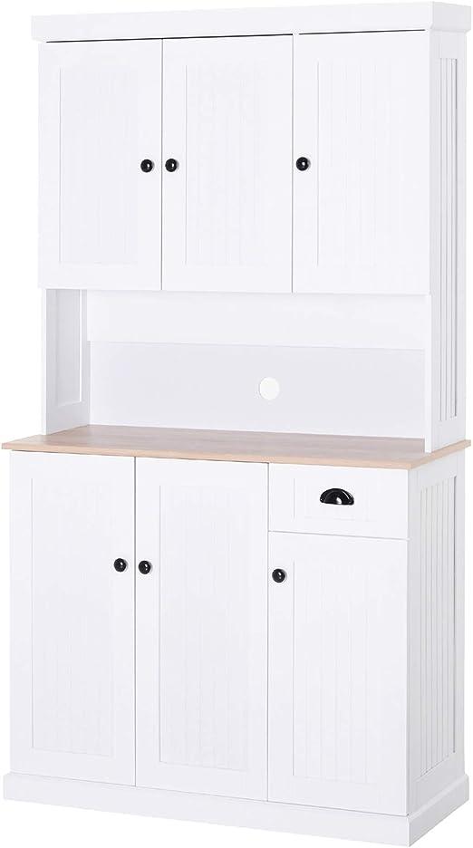 HOMCOM - Mueble de Cocina de Madera de 71 Pulgadas para microondas ...