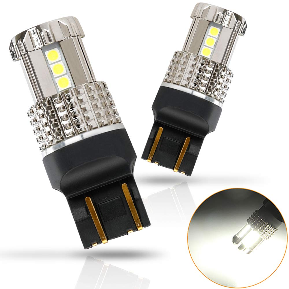 D-Lumina 7443 7444 992 W21W T20 LED Bulbs,3030 15SMD PHILIPS Chipsets Extremely Bright 1200LM for Back Up Reverse Light,Tail Lights,Brake Light Bulb ...
