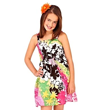c09798d13ab GIRLS KIDS COTTON STRETCH ELASTICATED LINED STRAPPY SUNDRESS SUMMER DRESS  BLACK FLOWERS 2
