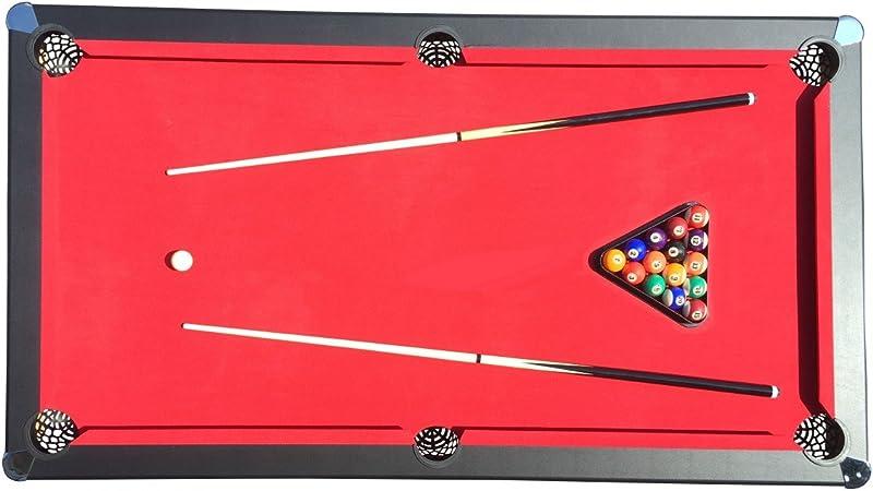 JT2D Accesssoires inclus Billard Am/éricain Deluxe Noir avec Tapis Rouge 207 x 115 x 79cm