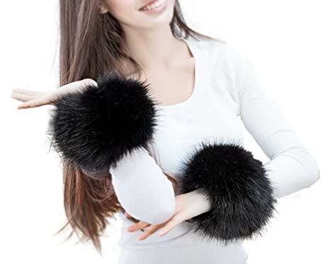 High-end Raccoon Plush Fashion Ladies Accessories Cuffs Women's Arm Warmers