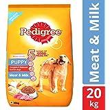 Pedigree Puppy Dry Dog Food, Meat & Milk – 20 kg Pack