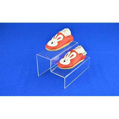 SMALL 2 STEP ACRYLIC DISPLAY STAND RETAIL SHOP RISER - PDS9024