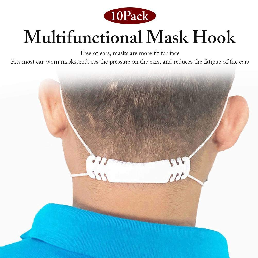 Mask Hook Ear Wear Type Adjustment Rope Extension Buckle for Mouth Face Mask Szseven 10PCS Third Gear Adjustable Mask Ear Grips Extension Hook