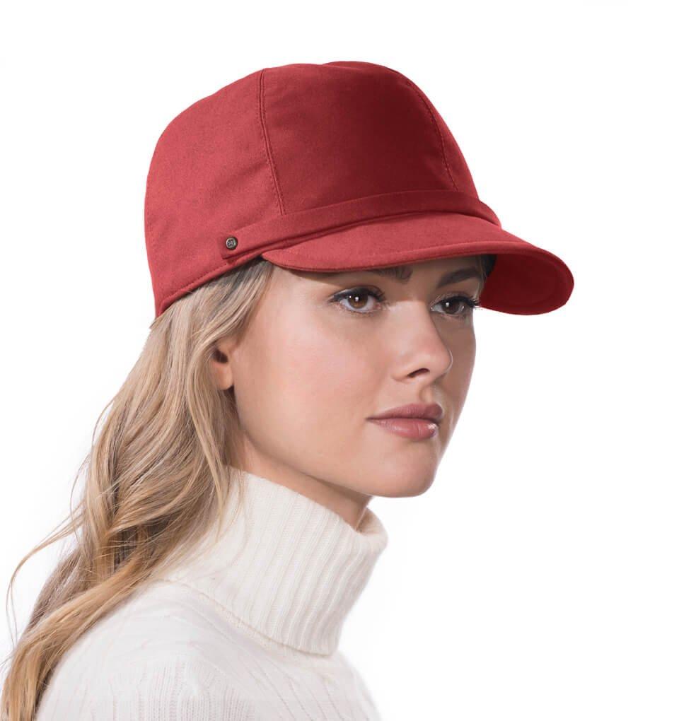 Eric Javits Luxury Fashion Designer Women's Headwear Hat - Mika -Claret