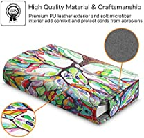 Love Tree Fintie Premium PU Leather Handmade Universal Card Case Organizer with Magnetic Closure Business Card Holder//Credit Card Wallet