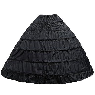 4ebc5ed17cff 6-Hoops Hoop Skirt Crinoline Petticoat for Wedding Dress Crinoline  Underskirt Ball Gown Petticoat for