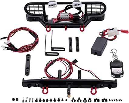 Front Bumper LED Lamp Winch Controller Receiver for RC TRAXXAS TRX-4 Crawler Car