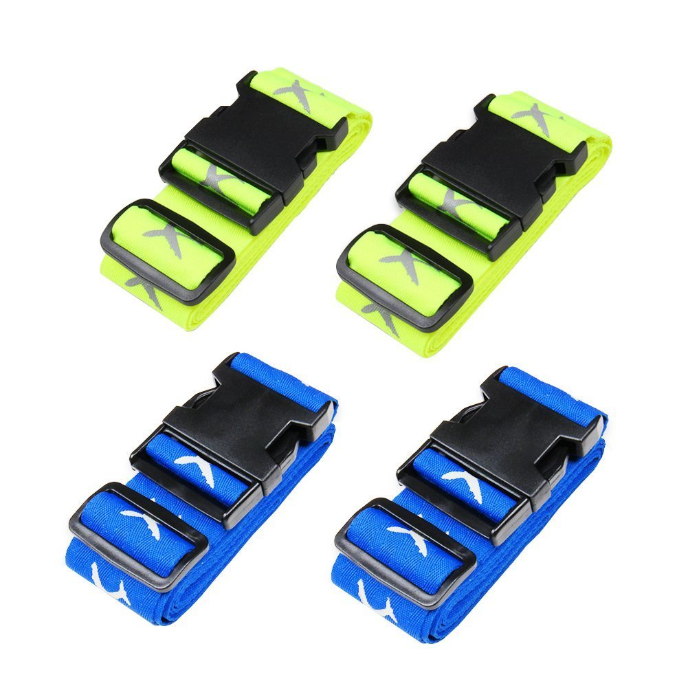 Sangle de Bagage,Luggage Strap Suitcase Belts Travel Accessories 2-Pack(Blue)