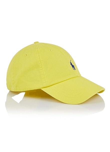Ralph Lauren - Gorra de béisbol - para hombre Amarillo amarillo Talla única: Amazon.es: Ropa y accesorios