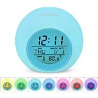 Outwit Kids Alarm Clock with Indoor Temperature Touch Control Snoozing