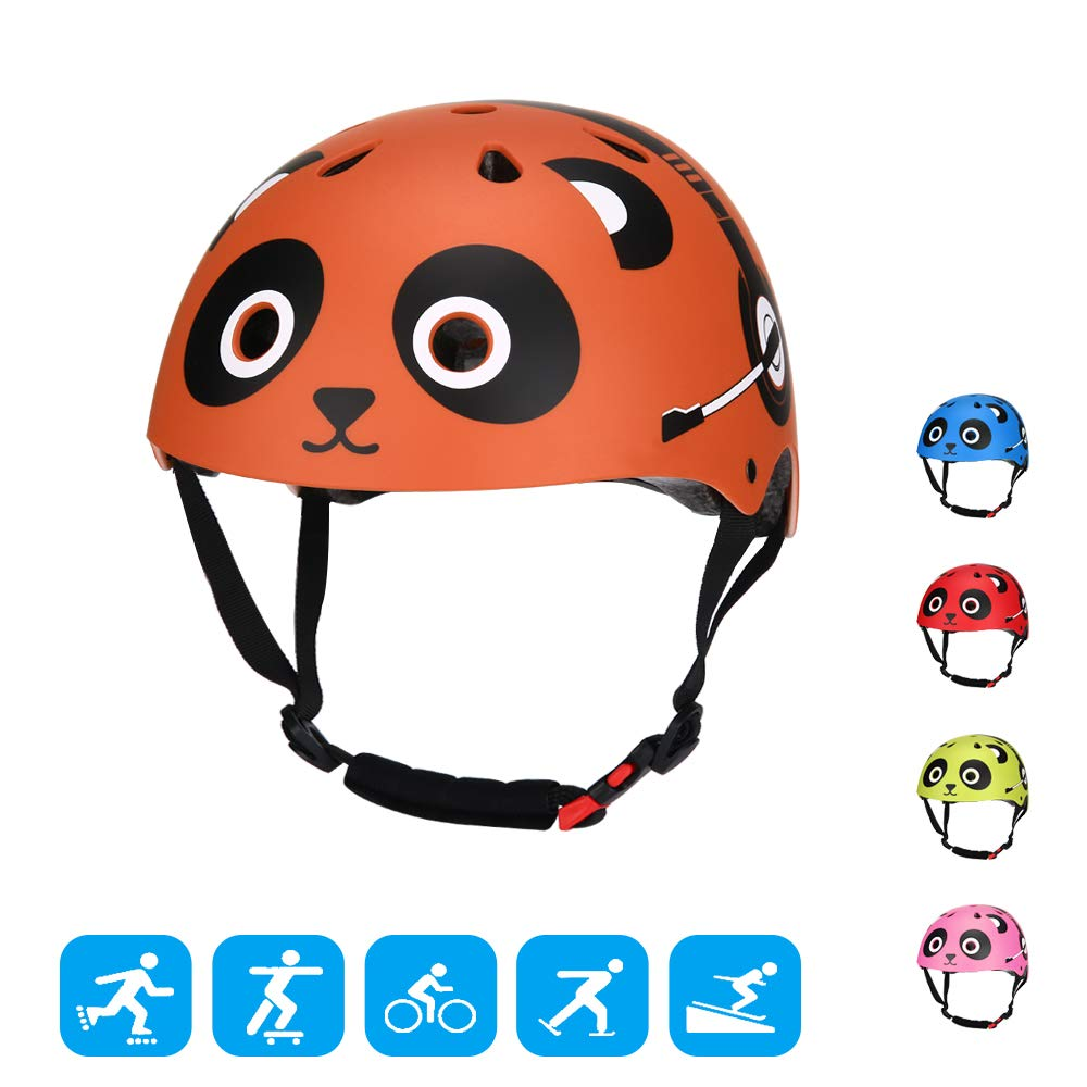 TOURNOW Kids Bike and Skateboard Helmet, CPSC Certified 11 Air Vents Adjustable Dial Helmet for Rollerblading Skateboard BMX Cycling Skating Bike Scooter Boys Girls for 3 to 8 Years Old