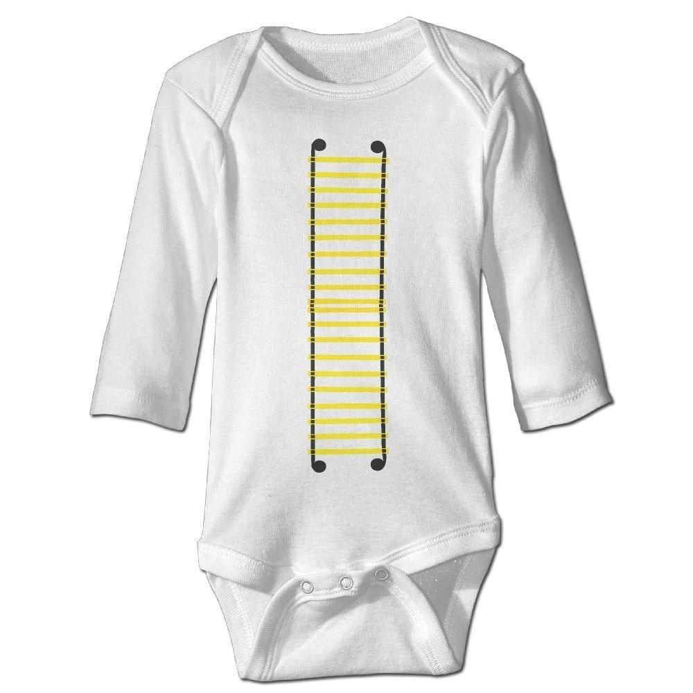 braeccesuit Babys Rope Ladder Long Sleeve Romper Onesie Jumpsuit Bodysuit