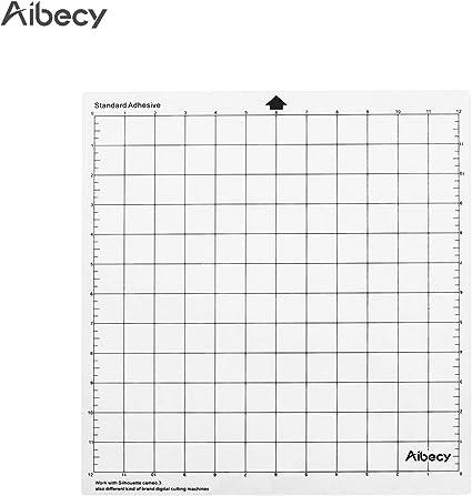 Aibecy Máquina de corte Almohadilla especial Rejilla de medición de 12 pulgadas Reemplazo de material de PP translúcido Alfombrilla adhesiva para la máquina plotter Silhouette Cameo 1PCS: Amazon.es: Oficina y papelería