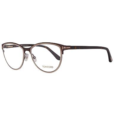 8e8c8f5f346 Amazon.com  Tom Ford Oval Eyeglasses TF5420 049 Matte Brown Havana ...