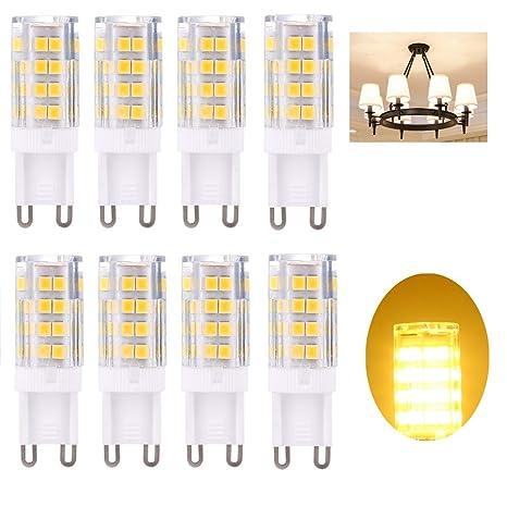 8 Pack G9 Bombilla LED, no parpadea, (5 W, equivalente a halógeno