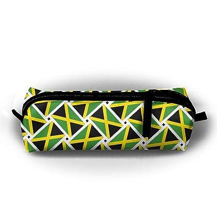 Bandera de Jamaica tejido bolsa de lápiz estuche multifuncional escuela suministros para acuarela, rotuladores y