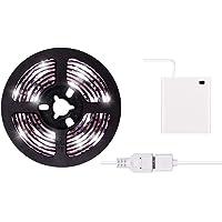 2m LED Strip Lights USB or Battery Powered Cool White USB LED Light Strip Kit 6.6FT Waterproof Super Bright LED Tape…