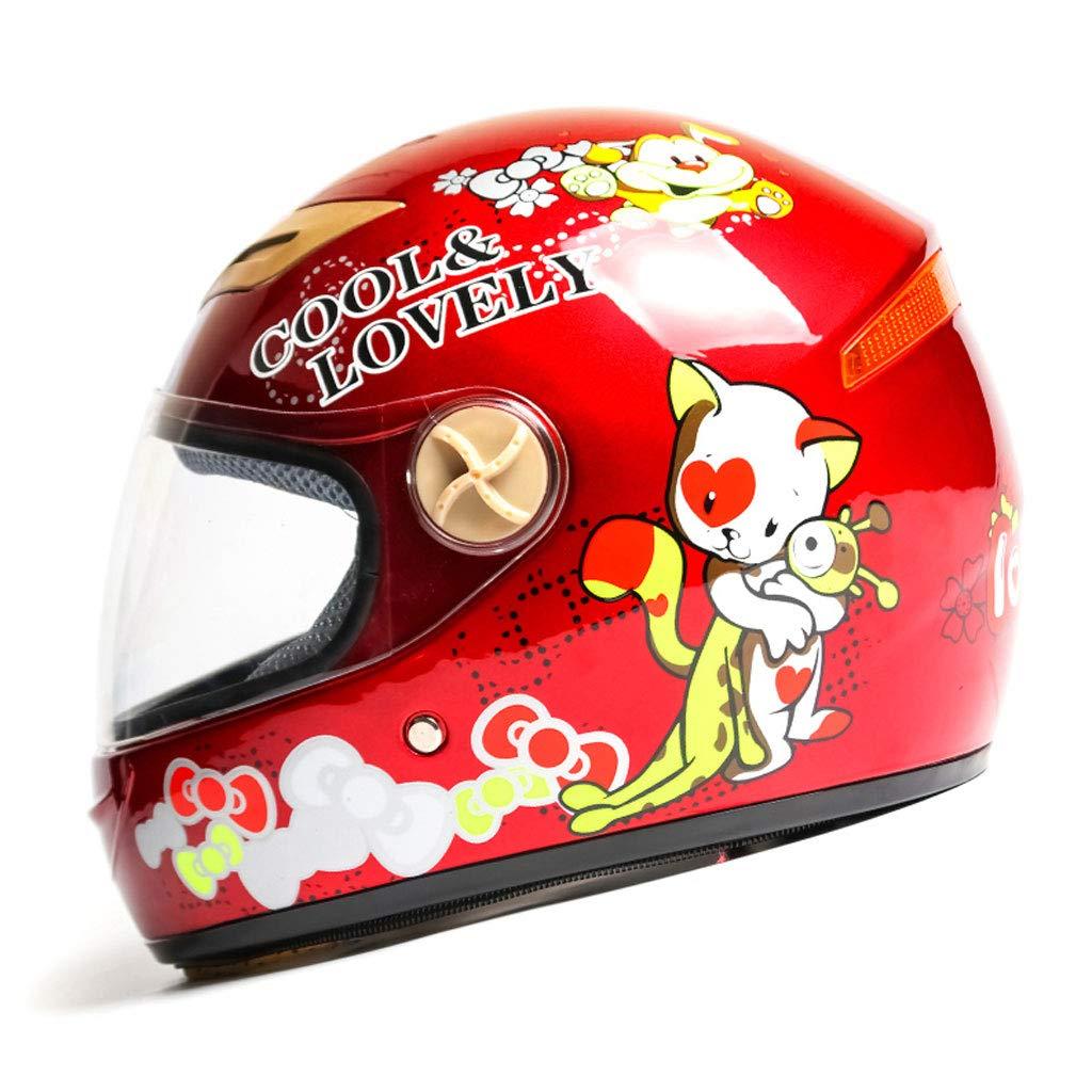NJ casco- Formato regolabile della ragazza del ragazzo di stagioni del ragazzo del fumetto di goccia della bicicletta della bicicletta elettrica del casco dei bambini (Colore : Blu)