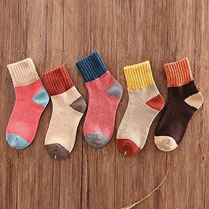 Calcetines de invierno cálidos en otoño e invierno, 5 unidades, mezcla de calcetines de
