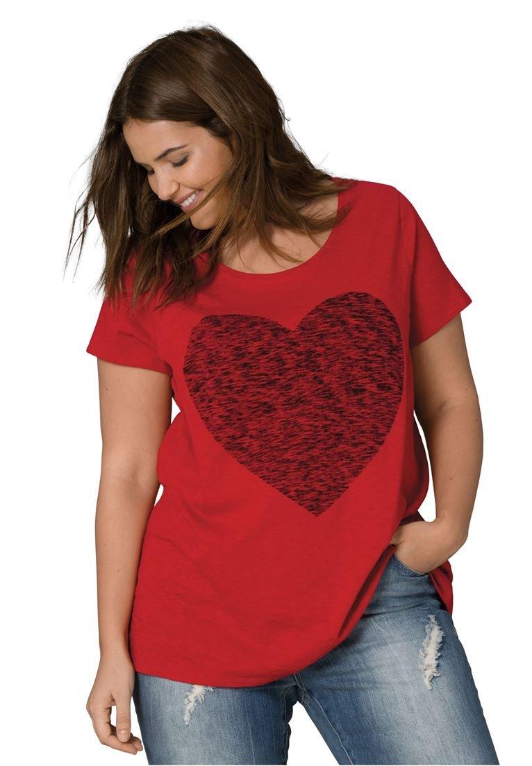 Ellos Women's Plus Size Love Tee Classic Red Heart,M