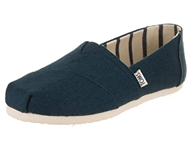 c01d4b5fd76 TOMS Womens Majolica Blue Canvas Classics  Amazon.co.uk  Shoes   Bags