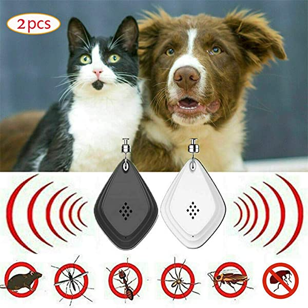 Ultrasonic Flea or Tick Repeller,Protect Your Furry Best Friend From Fleas and Tick In Afastest and Chemical-free Way, 2 Pcs