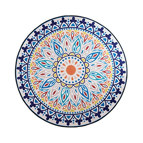 (Area Rugs Round Carpet/Spanish Coast Style Multi-Functional Living Room Rug/Coffee Table Computer Chair Rug)