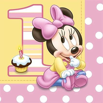 Amazon.com: Disney Minnie 1er Cumpleaños Almuerzo ...