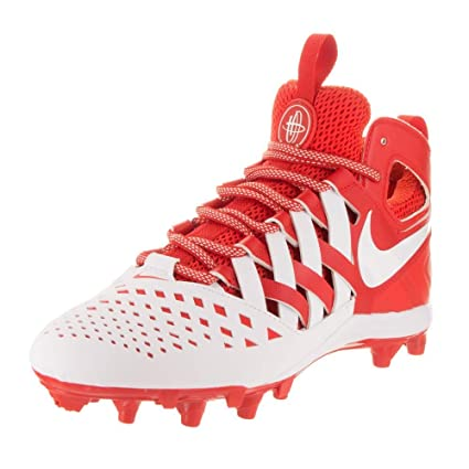 more photos 89340 bb731 Nike Men s Huarache V Lax Lacrosse Cleats Challenge Red White