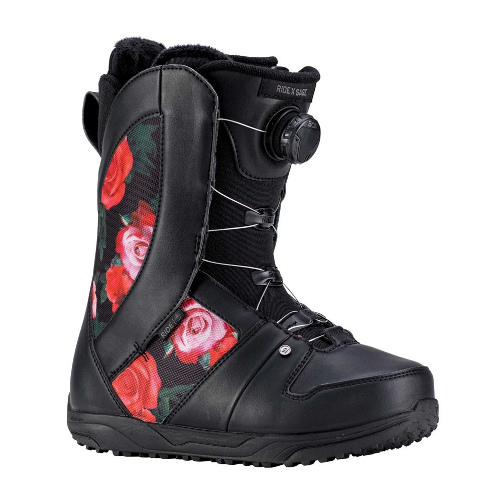 Black pink 10 B(M) US Ride Sage Boa Coiler Womens Snowboard Boots