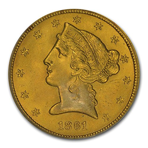 1861 $5 Liberty Gold Half Eagle MS-64 PCGS G$5 MS-64 PCGS