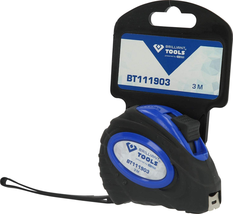 1-Tlg Schwarz Blau BRILLIANT TOOLS BT111903 Massband