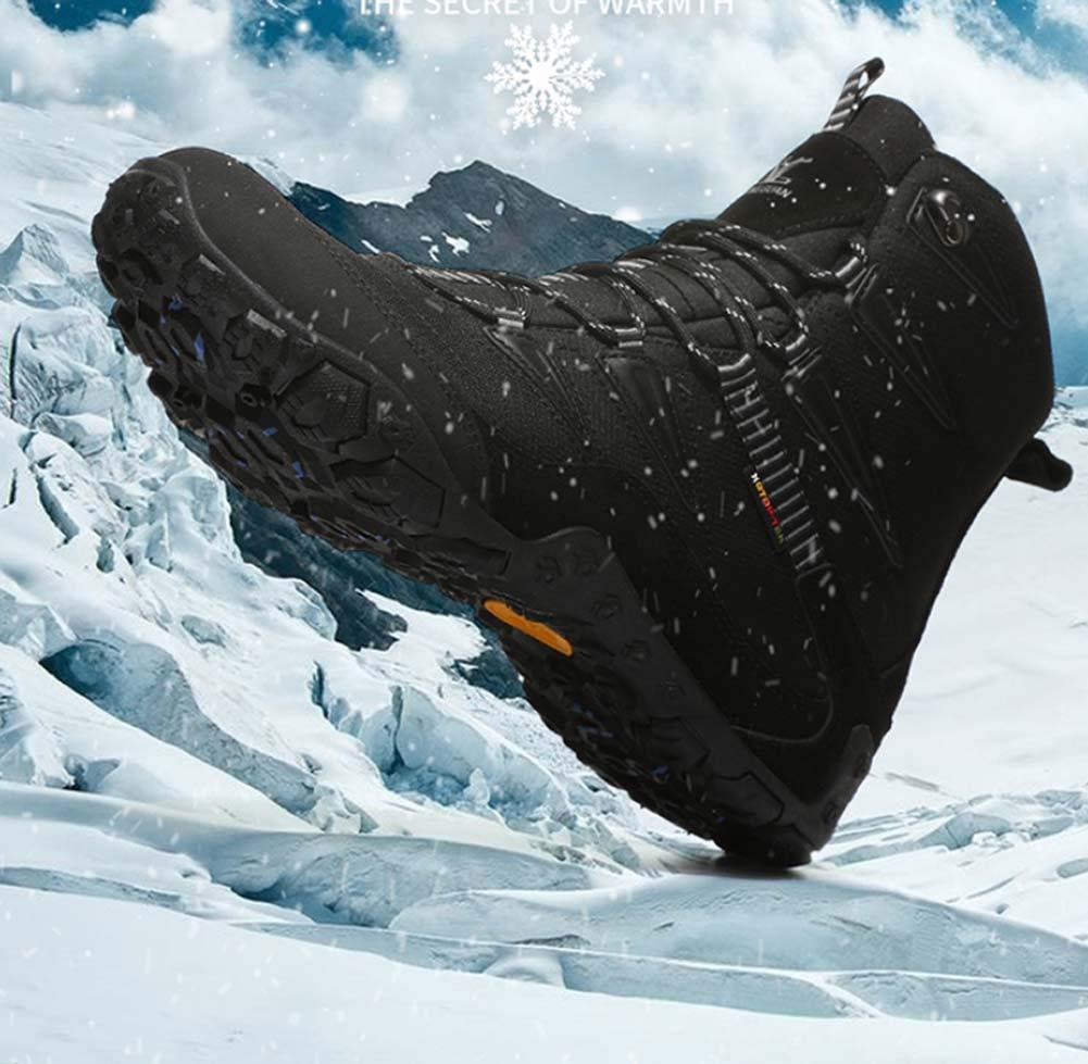 HYLFF Mens damen Snow Stiefel Winter Warm Stiefel Fully Fully Fully Fur Lined Anti-Slip Leder Wasserdichte Sicherheitstiefeln Arbeiten Schuhe gehen e94ebe