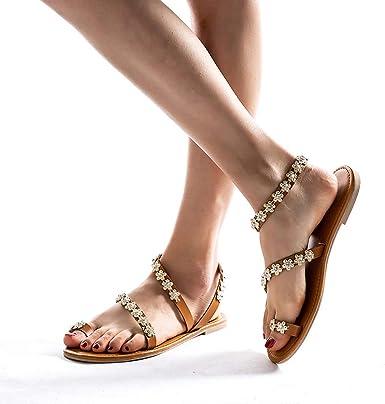 Women's Vintage Boho Sandals Crystal