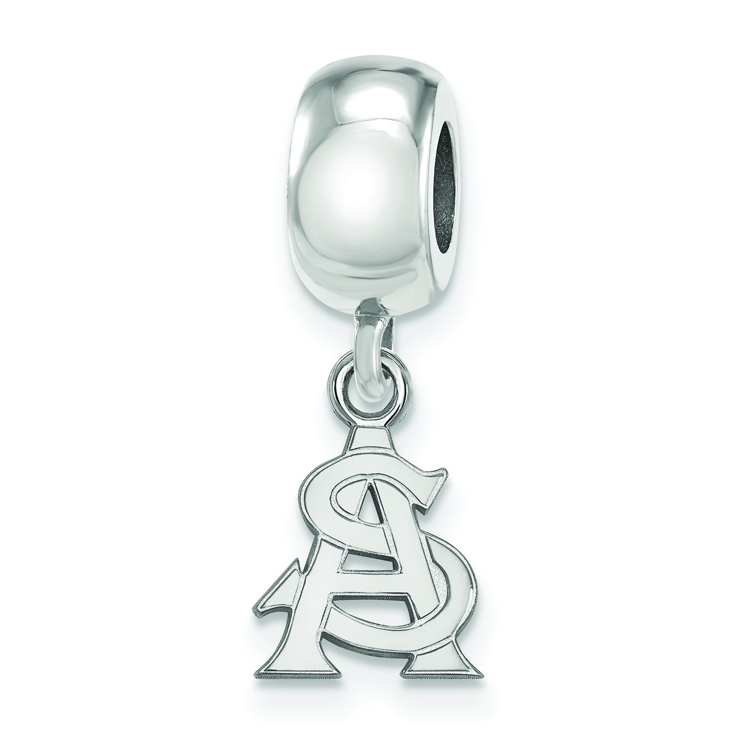 Dangle 3//8 Inch Sterling Silver Arizona State Bead Charm Extra Small