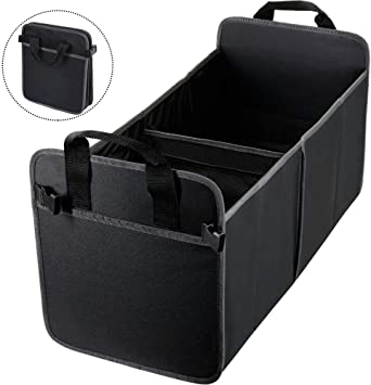 Car Boot Organiser HiHiLL Car Organiser with Tie Down Straps Foldable Trunk and