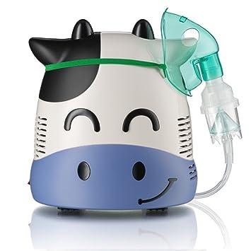 Only for Baby Smiley Cow - Inhalador para niños la Vaquita Sonriente Aparato para medicamentos líquidos con compresor Nebulizador: Amazon.es: Bebé
