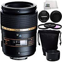Tamron SP 90mm f/2.8 Di Macro Autofocus Lens for Sony Alpha & Minolta Maxxum SLR + 4 Piece Accessory Kit