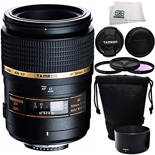 Tamron SP 90mm f/2.8 Di Macro Autofocus Lens for Canon EOS +