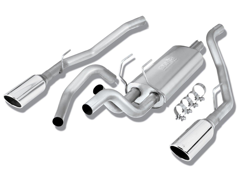 Borla 140307 Stainless Steel Cat Back Exhaust System 2012 Dodge Ram 1500 09 57l V8 Rwd 4dr Cc Sb Automotive