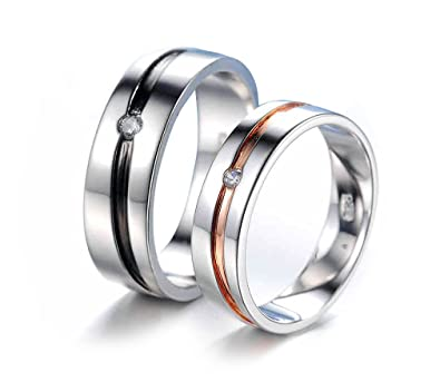 amazon com rings him source titanium for dp her and matching jewelry the wedding bands