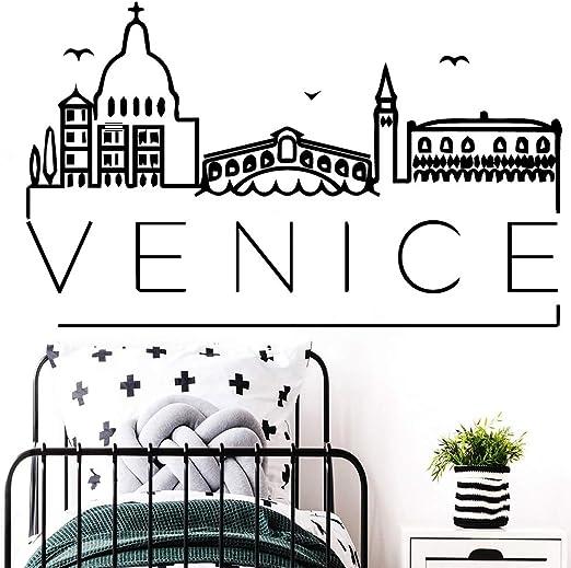 BailongXiao Hermosas Pegatinas de Pared de Venecia Pegatinas ...