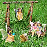 Fairy Garden Best Friends Day Set of 6 pcs, Premium Quality Hand Painted Kit For Outdoor, House, Flat Decor, By Mood Lab