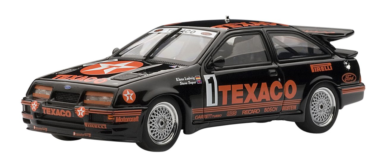 1987 Ford Sierra RS500 Cosworth [AutoArt 68711], 1, Gruppe A, Texaco, 1:43 Die Cast
