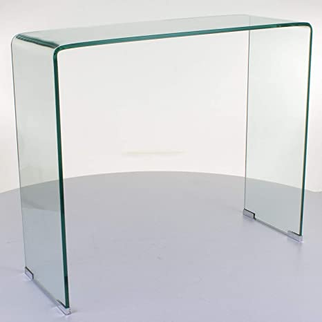 check out 41d53 b18ea Marko Furniture Aarhus Large Curved Glass Console Table Bent ...