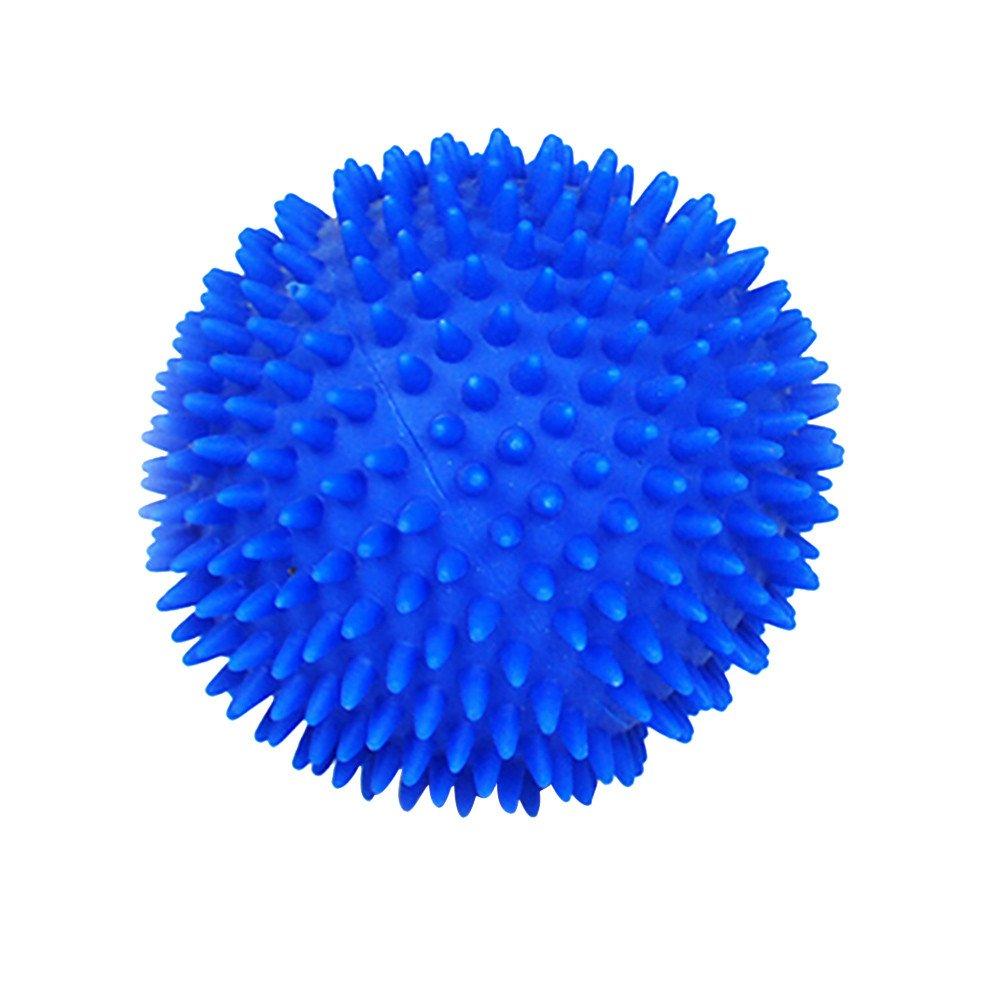 HUN Huangou Vinyl Ball Toy Dog Pet Fun Ball Biting Chewing Toys-Easy pet to Carry (Blue, About 7CM)