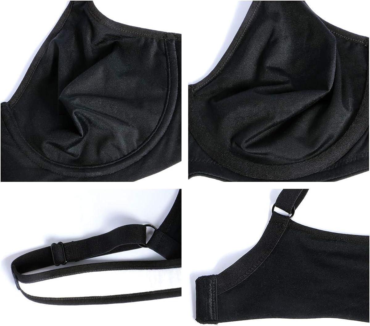 HSIA Womens Minimizer Underwire Unlind Bra Full Coverage Non Padded T-Shirt Molded Full Bust Bra 34C-42DDD