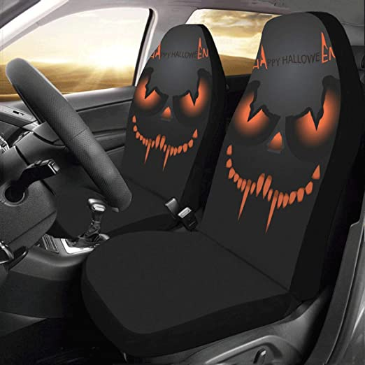 Amazon Com Interestprint Front Car Seat Covers 2 Pcs Halloween Monster Mask Vehicle Seat Protector Polyester Cloth Fabric Mat Covers Auto Seat Cushion Universal Fit Most Cars Sedan Truck Suv Van For Women